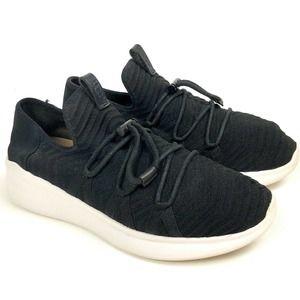 Ugg Sneaker Kinney Platform Black Knit Size 9